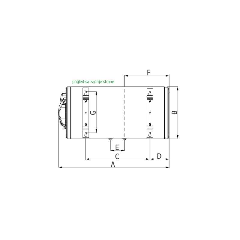 Bojler Termorad Emajliranii BTCR-50 Z standard HOR Zid