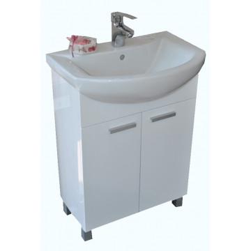 Merkur umivaonik 46x60 +Konzolni ormaric K 60 R CRNI 99-621