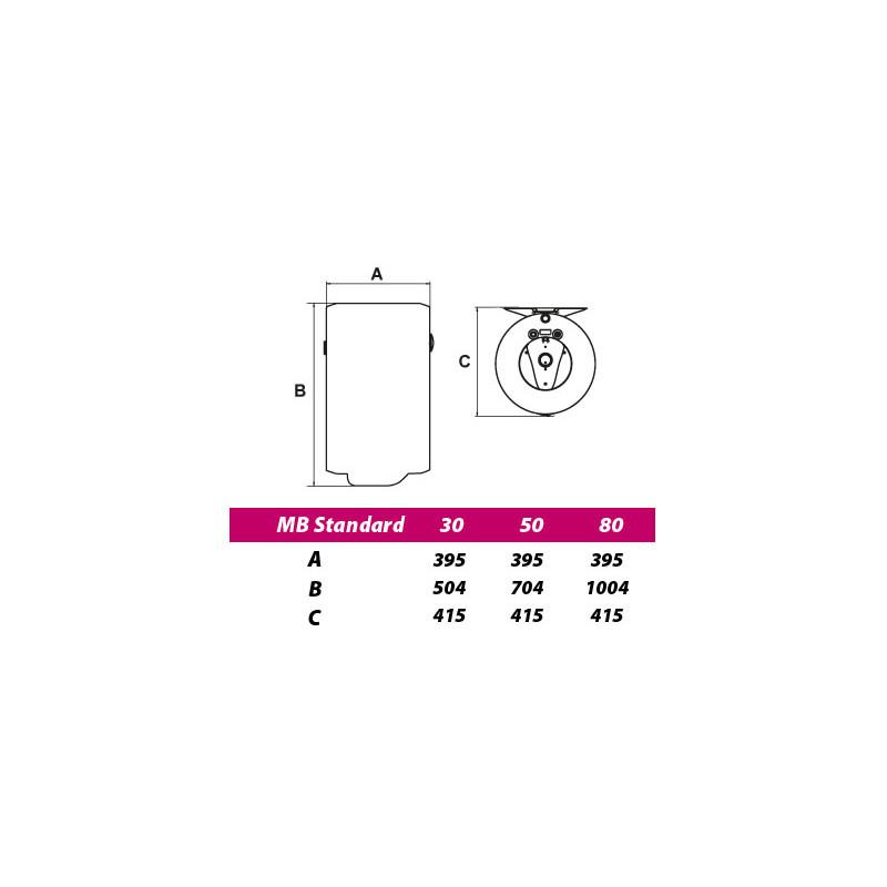 Bojler Metalac 80 L  emajlirani kazan EZVP80R