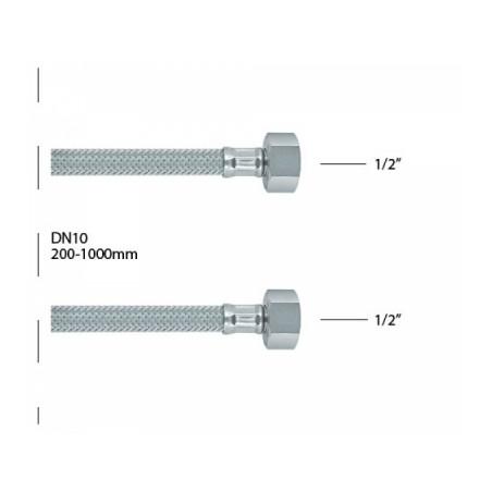 Ecos brinox crevo 1/2-3/8 50cm